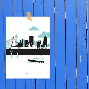 Poster Rotterdam Vervoer ANNIdesign blauw_01