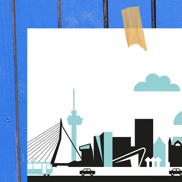 Poster Rotterdam Vervoer ANNIdesign blauw_02