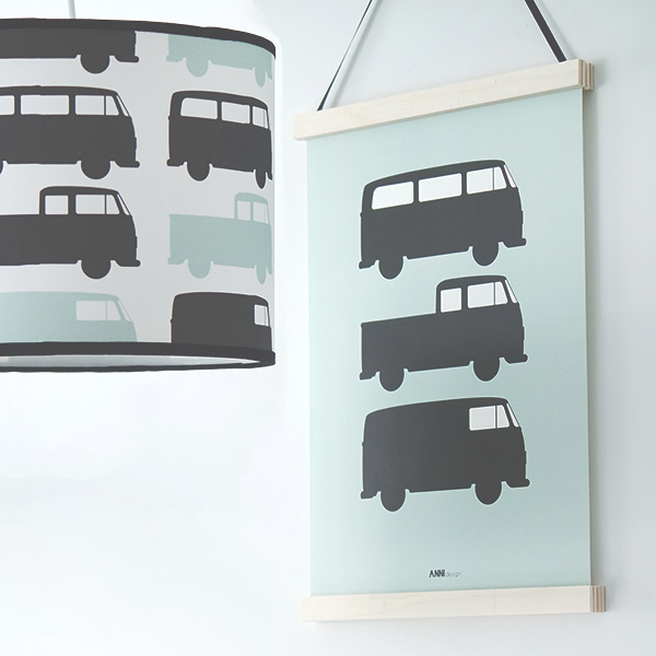 Poster Busjes 3x old green ANNIdesign 01
