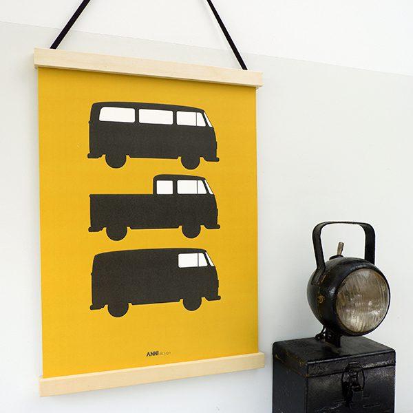 Poster Bussen 3x oker ANNIdesign