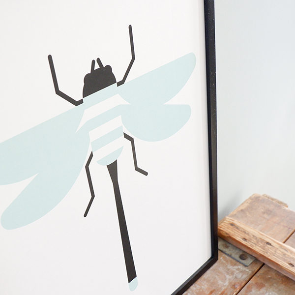 Poster Insect Libelle ANNIdesign old green 02