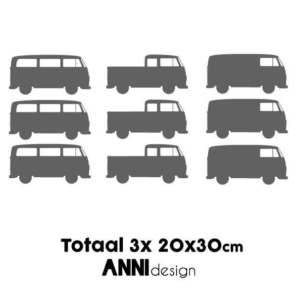 Muursticker set Bussen grijs_ANNIdesign_02