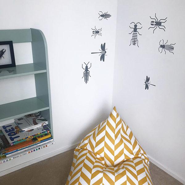 Muursticker set Insect grijs_ANNIdesign_01