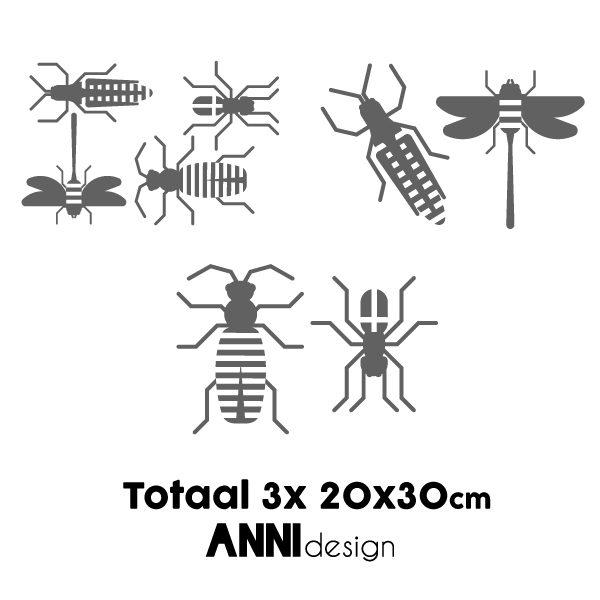 Muursticker set Insect grijs_ANNIdesign_02