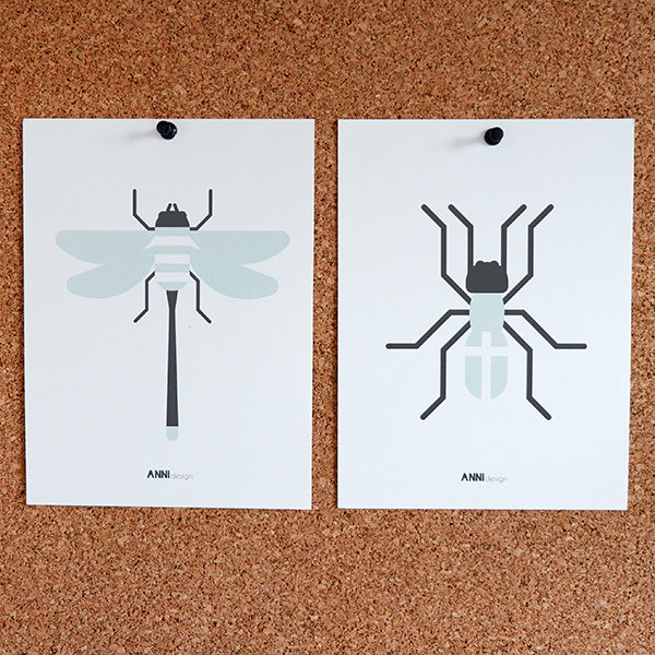 Poster set Insect old green ANNIdesign 01