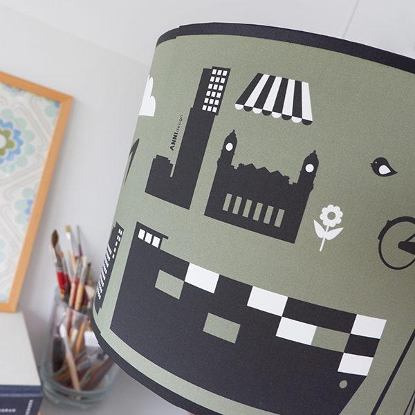 Lamp Rotterdam Iconen olijf groen ANNIdesign 02