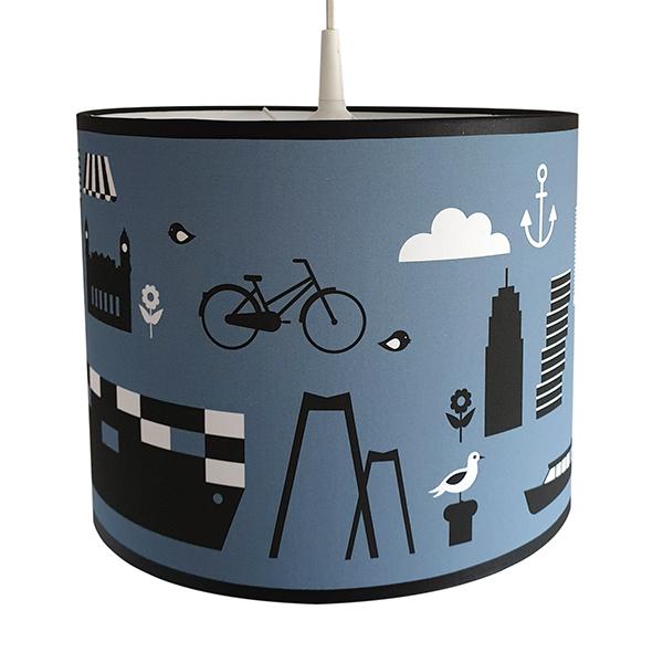 Lamp Rotterdam iconen ANNIdesign jeans blauw 02