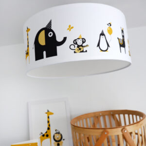 Plafondlamp Feestbeesten oker geel ANNIdesign 01