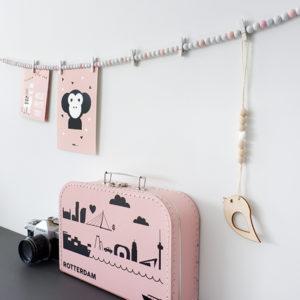 Kaartslinger ANNIdesign roze 01