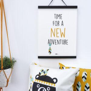 Poster Indiaan New Adventure oker geel ANNIdesign 03