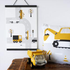 Poster Voertuigen Auto oker geel ANNIdesign 03