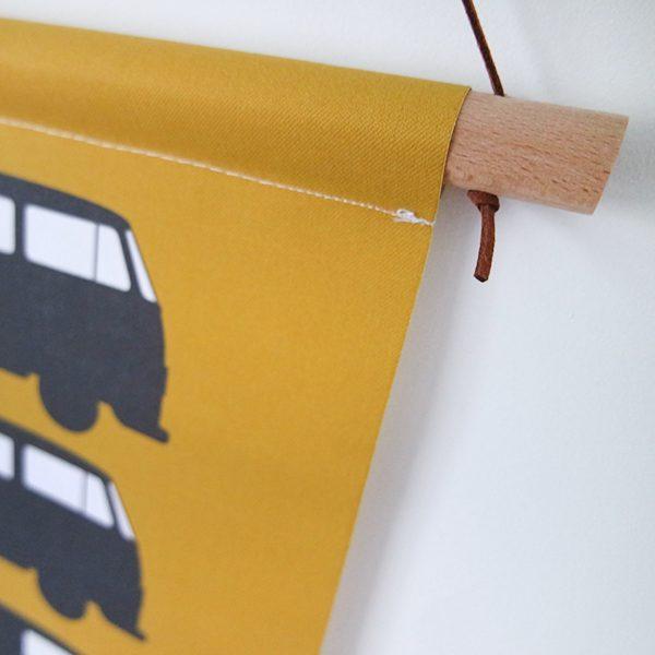 Textielposter Bus oker ANNIdesign 02