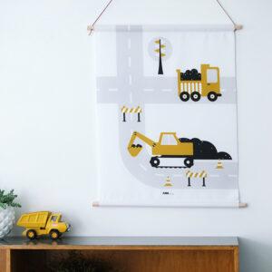 Textielposter Graafmachine oker ANNIdesign 03