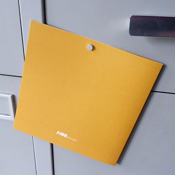 Wenskaart Bus oker geel ANNIdesign 03