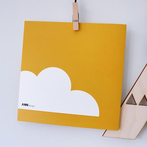 Wenskaart Happy Bird day oker geel ANNIdesign 03