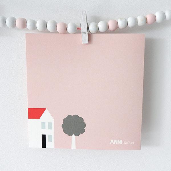 Wenskaart Ooievaar ANNIdesign roze 03