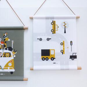 Textielposter Voertuigen Auto oker ANNIdesign 03