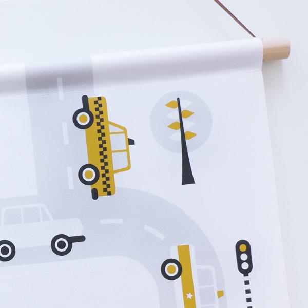Textielposter Voertuigen Auto oker ANNIdesign 04