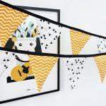 Slinger stof triangel zigzag oker geel ANNIdesign 01