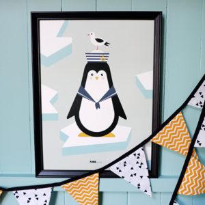 Poster Pinguin ijs_ANNIdesign