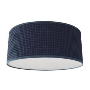 Plafondlamp Wafelstof donker oudblauw Bi & Li Creaties 02