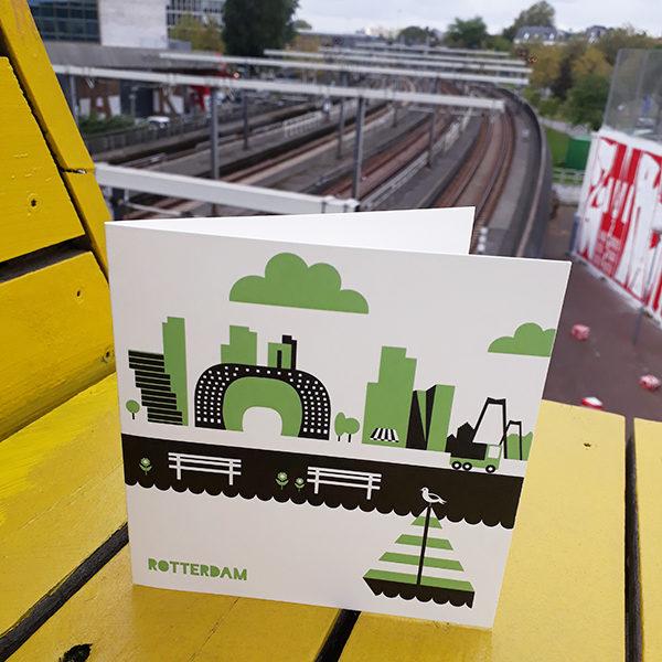 Wenskaart Rotterdam ANNIdesign Markthal groen 01