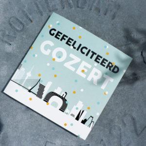Wenskaart Rotterdam Gefeliciteerd Gozert ANNIdesign 01