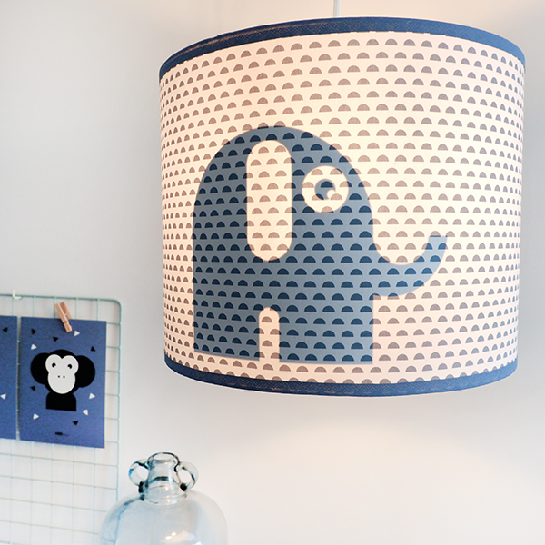 Lamp silhouet Olifant_maantjes jeans blauw_ANNIdesign_01