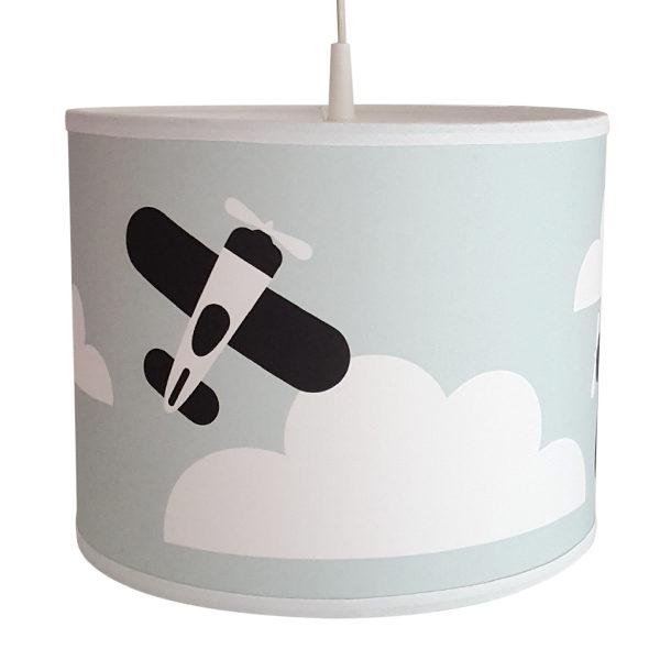 Geliefde Lamp Vliegtuigen en Wolken in old green voor Kinderkamer | ANNIdesign UX92