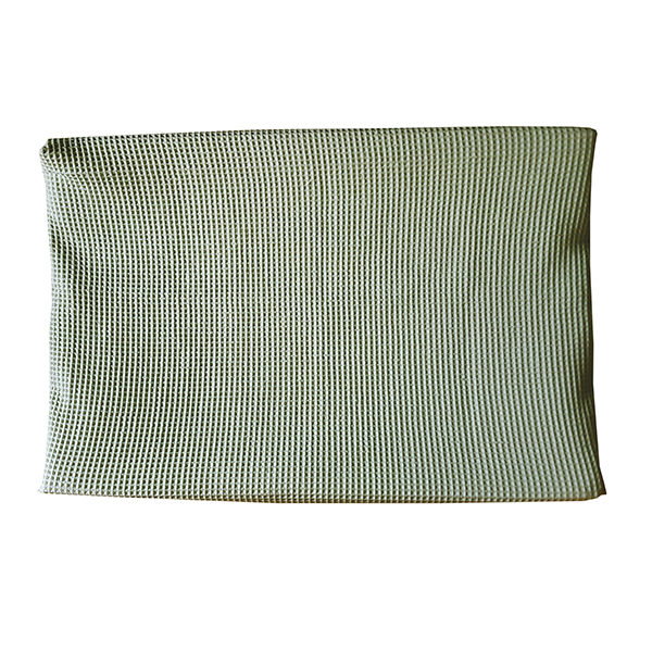 Aankleedkussenhoes Babykamer Wafelstof Basic_ANNIdesign_Wafelstof old green