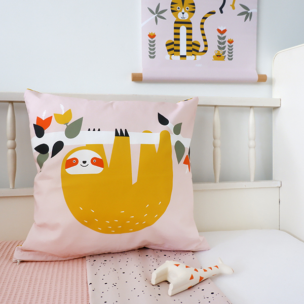 Kussen Jungle oud roze ANNIdesign 04
