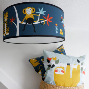 Plafondlamp Jungle donker blauw_ANNIdesign_sfeer 01