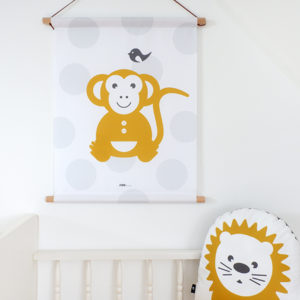 Textielposter Aap stip_ANNIdesign_01