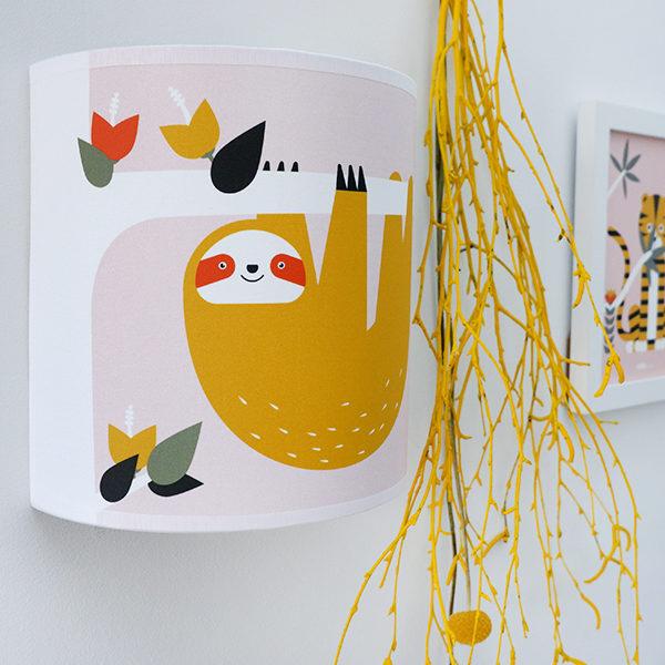 Wandlamp Jungle Luiaard_oud roze_ANNIdesign_01