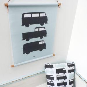 Textielposter Bussen old green_ANNIdesign_01