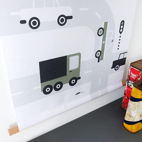 Textielposter Voertuigen Auto's olijfgroen ANNIdesign_02