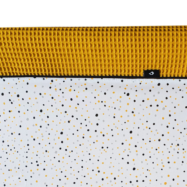 Aankleedhoes Confetti_Wafelstof oker_ANNIdesign 02