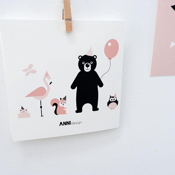 Geboortekaart Olifant oud roze VK_ANNIdesign 03