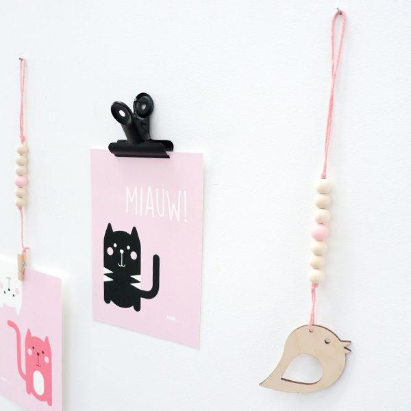 Hanger Vogel roze ANNIdesign 01