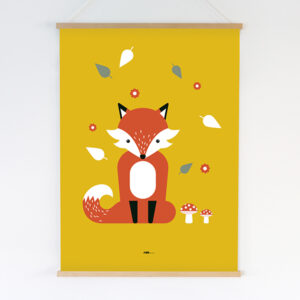 Poster XL Vos oker_ANNIdesign