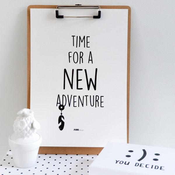Poster black&white_Adventure_ANNIdesign_01