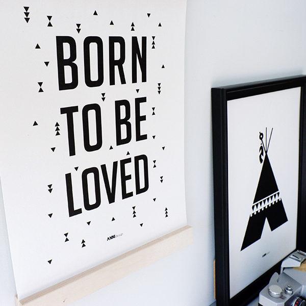 Poster black&white_Born to be Loved_ANNIdesign_02