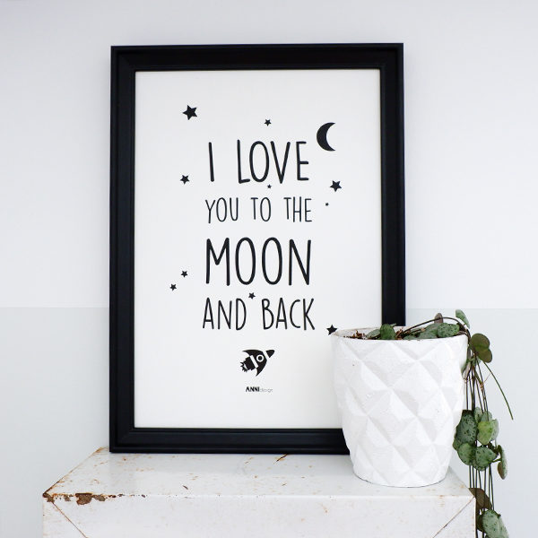Poster black&white_Moon_ANNIdesign_01