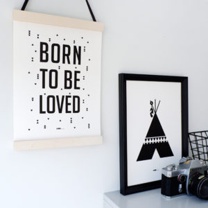 Poster black&white_Born to be Loved_ANNIdesign_01