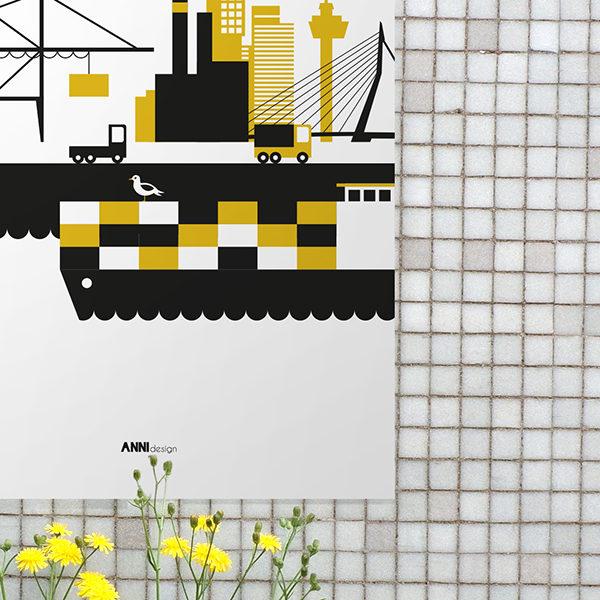 Poster Rotterdam Haven oker geel_ANNIdesign_02