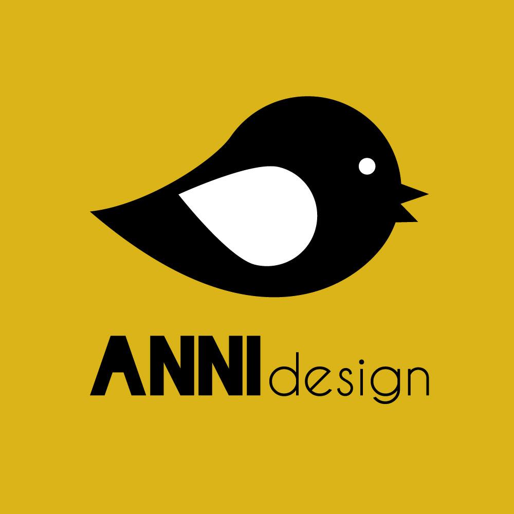 ANNIdesign logo vierkant oker