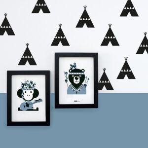 Muursticker Tipi zwart ANNIdesign 04