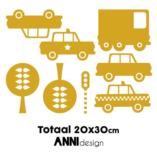Muurstickers Auto oker geel_ANNIdesign_02