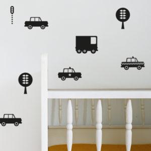Muurstickers Auto zwart_ANNIdesign_01