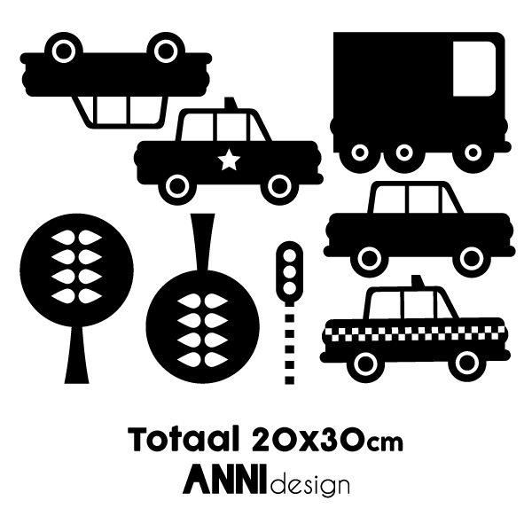 Muurstickers Auto zwart_ANNIdesign_02